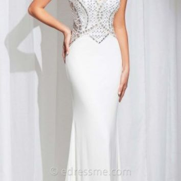 Cut Out Back Halter Prom Gown by Tony Bowls Paris