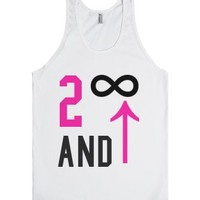 To Infinity And Beyond Symbols Tank-Unisex White Tank