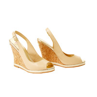 Lilly Pulitzer Kristin Leather Wedge - Nude