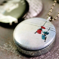 Carousel Horse Amusement Park Locket - f2images - Recycled Magnetic By Polarity