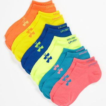 Women's Under Armour Neon No-Show Socks (Six-Pack)
