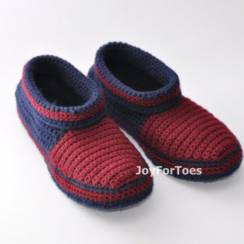Crochet Men Boots Slippers for the House Custom Made