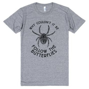 Follow The Spiders-Unisex Athletic Grey T-Shirt