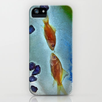 Kissing Goldfish iPhone & iPod Case by Spirit Young