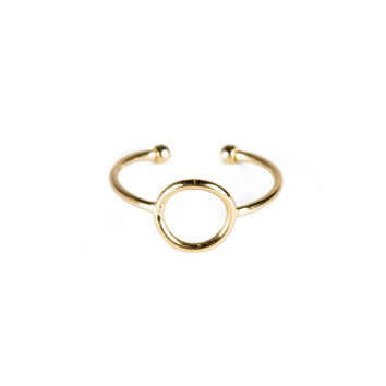 Circle Cut Out Knuckle Ring