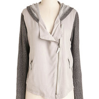 ModCloth Urban Short Length Long Sleeve Zoom with a View Jacket