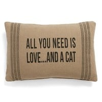 Primitives by Kathy 'And a Cat' Pillow - Beige