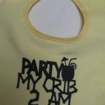 Funny Bibs Party in my crib by christinaspot on Etsy