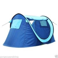 Instant Pop-up Foldable 2 person Camping Hiking Outdoor Light blue Tent T02