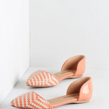 ModCloth Like a Natural Woven Flat in Coral