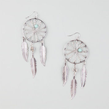 Full Tilt Dreamcatcher Earrings Silver One Size For Women 26178214001