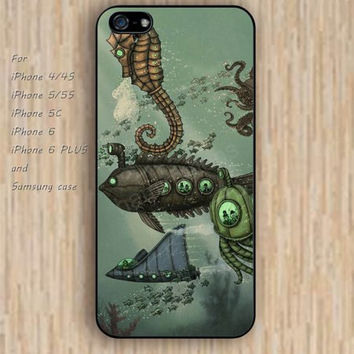 iPhone 5s 6 case Cartoon Underwater World War colorful phone case iphone case,ipod case,samsung galaxy case available plastic rubber case waterproof B368