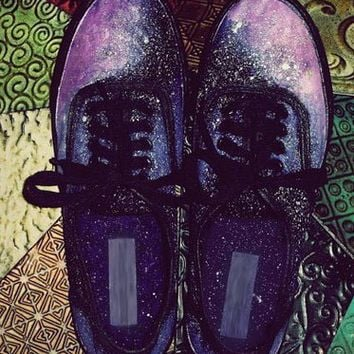Starry Nebula Galaxy Shoes by Talcs on Etsy