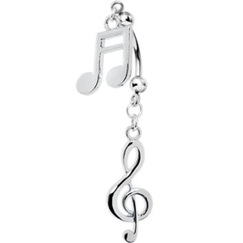 Handcrafted Music Passion Double Mount Belly Ring | Body Candy Body Jewelry