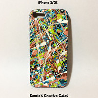 Hand Painted Splatter Paint Drip Painting iPhone 5/5s Case