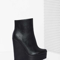 Shoe Cult Living on the Wedge Bootie