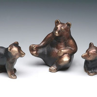 Bear Cub solid bronze baby bear offered individually by Nelles