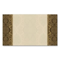 Lacy Vintage Floral in Brown Business Card Templates