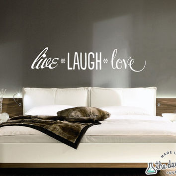 Live, Laugh, Love Quote Wall Decal WAL-A130