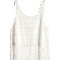 H&M - Tank Top with Fringe