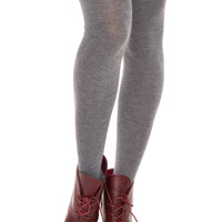 Hope Over The Knee Socks - Grey