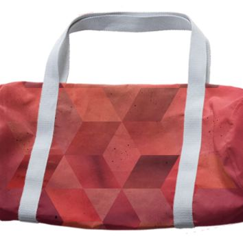 Red Geo duffle bag created by duckyb | Print All Over Me