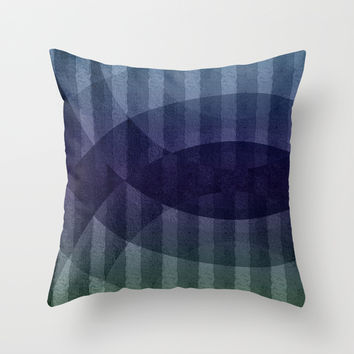 Geometric abstract BG Throw Pillow by VanessaGF