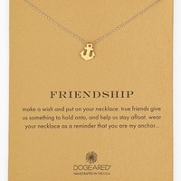 Women's Dogeared 'Reminder - Friendship' Boxed Anchor Pendant Necklace