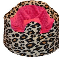 Pink and Leopard Bumbo Seat Cover