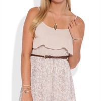 Paisley Print A-Line Dress with Belted Waist