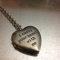 i carry your heart with me Locket Necklace by urbanindustries