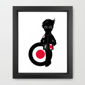 Mod Illustration Framed Art Print by markmurphycreative