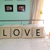 Set of 4 decorative pillow cases cushion by PersonalizedWorld