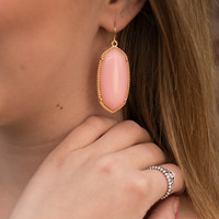 Jewel Dangle Earrings - Pink