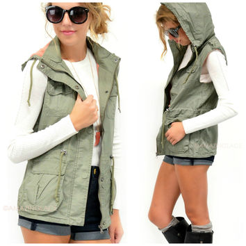 West Point Olive Green Utility Vest