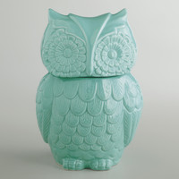 Aqua Owl Cookie Jar - World Market