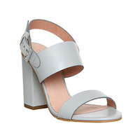 Office Garland Strappy Block Heel Grey Leather - High Heels
