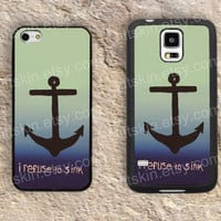 The ocean Anchor colorful iphone 4 4s iphone  5 5s iphone 5c case samsung galaxy s3 s4 case s5 galaxy note2 note3 case cover skin