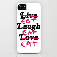 Eat Eat Eat iPhone & iPod Case by LookHUMAN