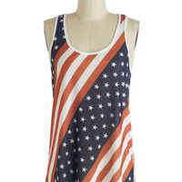 ModCloth Americana Mid-length Tank top (2 thick straps) Mind Your Banners Tank