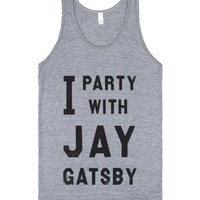 Athletic Grey Tank   Funny Great Gatsby Party Shirts