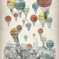 Voyages over Edinburgh Art Print by David Fleck