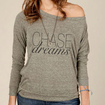 Chase Dreams Eco Fashion Slouchy Long Sleeve Pullover in Military