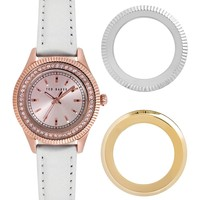 Ted Baker London | Women's Stainless Steel Genuine Leather Quartz Watch | Nordstrom Rack