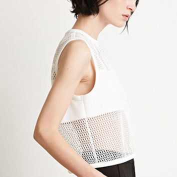 Netted Mesh Paneled Top