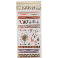 With Love From CA Zodiac Tribal Flash Tattoos - Womens Scarves - Gold - One