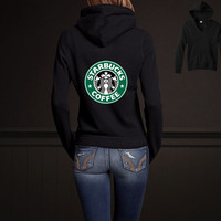 Starbucks Coffee women Sweatshirt hoodie tshirt shirt size S M L XL Screen Printing by Melissa2012us