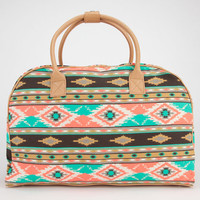 Southwest Print Duffle Bag Turquoise One Size For Women 23097224101