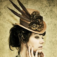 The Patience Steampunk Inspired Top Hat by topsyturvydesign