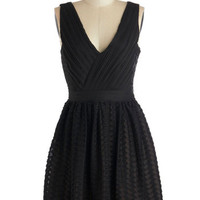 ModCloth LBD Mid-length Tank top (2 thick straps) A-line Transcendent Texture Dress